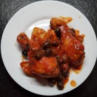 Pollo alla cacciatora con olive nere