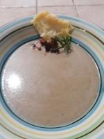 Piatto crema funghi