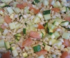 Orzo freddo vegan di sole verdure (dieta dissociata)