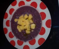 Zuppa cavolo viola ai cereale e polenta