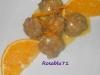 Polpettine con salsa all'arancia ( a modo mio)