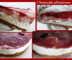 Cheesecake all'amarena (con Panna e Ricotta)