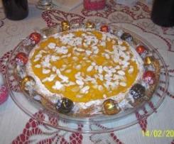 Crostata alla crema di arancia e scaglie di mandorle