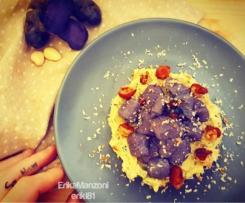 Gnocchi viola con zucchine e borlotti (vegan) - piatto unico