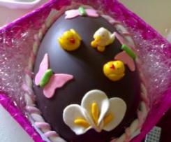 uova di pasqua tipo rocher con stampo decoupage