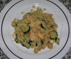 Cous cous con zucchine e gamberetti