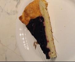 Crostata con crema e marmellata di mirtilli