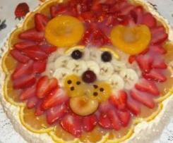 torta  con la faccia di leone