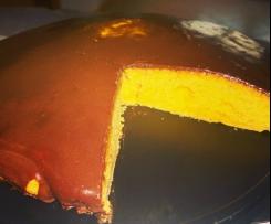 torta ACE delicata con glassa al cioccolato