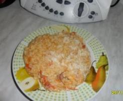 riso con peperoni e speck