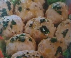 Polpette di pollo con emulsione alle erbe ricetta presa dal giornale noi....voi.... bimby