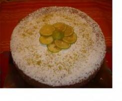 Torta di frolla e pan di spagna con marmellata di fichi e crema pasticcera