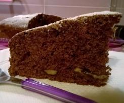 torta soffice cioccolato e banane
