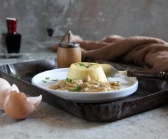 Tortino al parmigiano e funghi