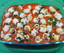 Involtini di tacchino allo speck ripieni di castagne su salsa alle verdure