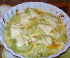 Fiori di zucca al prosciutto e mozzarella