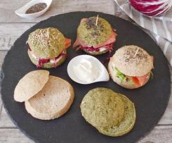 MINI HAMBURGER DI MIGLIO E SPINACI