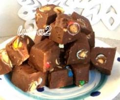 Fudge (caramelle fondenti al cioccolato - Natale)
