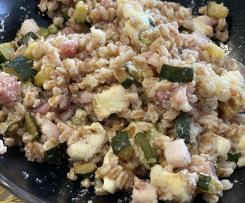 Insalata di farro con zucchine insaporite- contest lunchbox