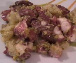 Insalata di polpo con pesto di pistacchi