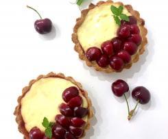 Crostatine di farro alla crema di yogurt e ciliegie (contest yogurt)