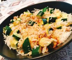 Riso Basmati con Zucchine, Tonno e Curry