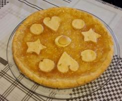 Crostata di riso con confettura di pere williams e limone (senza glutine)