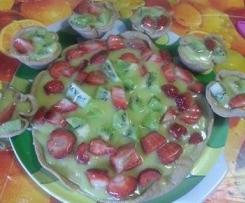 Torta di frutta con base di farro senza uova ne latte