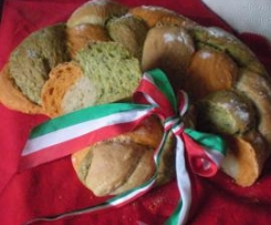 Pane tricolore per 150° unità d'Italia
