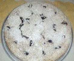 CROSTATA CON FROLLA DI BANANE farcita con marmellata di amarene e gocce di cioccolato