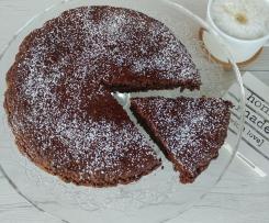 Torta senza zucchero con quinoa soffiata