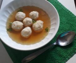 Polpette di tacchino e yogurt greco a modo mio in brodo di pollo (contest polpette non fritte)