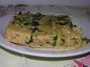 Frittata senza uova,alle erbe con porri,biete e spinaci