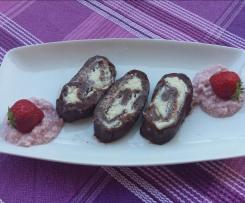 Girelle di biscotto con crema di fragoline e cocco - contest dolci senza forno