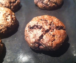 biscotti soffici al cacao con cuore di cioccolato (ricetta con esubero di pm)