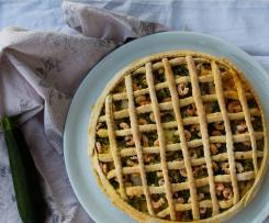 Torta salata zucchine e gamberetti