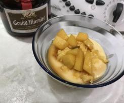 Panna cotta mango e grand marnier