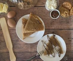 CONTEST CREPES - Crepes di biscotto con nutella e ricotta