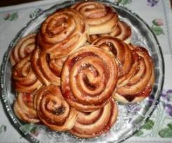 Girandole di pane e marmellata