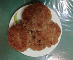 Hamburger di carne e pane al forno