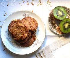 Biscotti croccanti di frolla, corn flakes e kiwi.