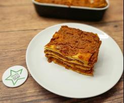Lasagna vegana con ragù di lenticchie
