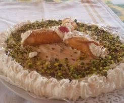 Torta fredda al cannolo siciliano - contest -