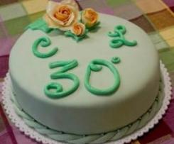 Torta del 30° anniversario di nozze