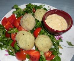 Polpette fredde del Riciclo(pollo, zucchine, pesto)