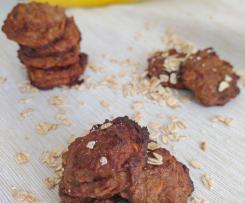 Biscotti con banana, noci e fiocchi d'avena - Contest dolci senza burro e senza uova