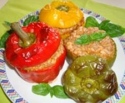peperoni ripieni di riso e carne