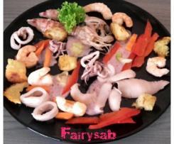 Insalata di Mare Pink Ladies (seppie, calamari, gamberi e cicale) -contest pesce in insalata-