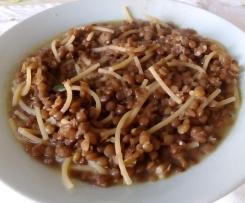 Spaghettini e lenticchie saporite