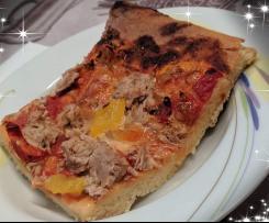 Pizza in teglia bassa e croccante